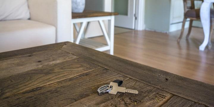 keys left inside house